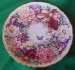 Lena Liu Circle Of Love 1st Issue Floral Greetings Collection Plate