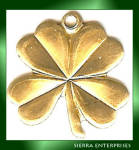 Shamrock Four Leaf Clover Charms