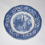 Staffordshire Liberty Blue Old North Church Blue Transferware Saucer