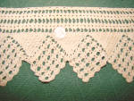 2 Vtg. Wide Crocheted Lace Trim Pcs.