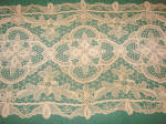 Vintage Fancy Needle Lace Floral Runner