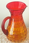 Blenko Pitcher Joel P Myers Tangerine Amberina10 In. 1969