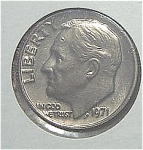 1971 Roosevelt Dime From Original Bu Roll Coins