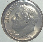 1974 Roosevelt Dime Cut From Mint Set Coins