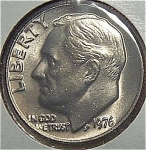 1976 Roosevelt Dime Cut From Mint Set Coins
