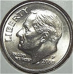 2000-p Roosevelt Dime From Original Bu Roll Coins