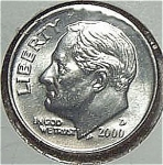 2000-d Roosevelt Dime From Original Bu Roll Coins
