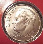 2009-d Roosevelt Dime Satin Finish Cut From Mint Set Coins