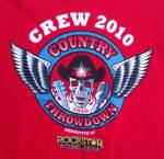 Original Country Throwdown 2010 Local Crew T-shirt