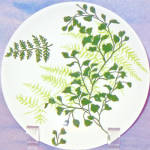 Royal Green Fern Bread Plate