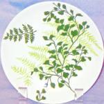 Royal Green Fern Bread Plate