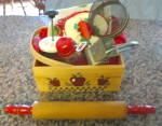 Red Kitchen Collectibles Basket