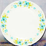 Salem Ironstone Blue Floral Dinner Plate