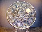 Anchor Hocking Crystal Pressed Cut Glass Round Plater