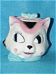 Pink Deco Cat Head Grease Jar With Lid