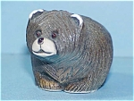 Uruguay Carved Clay Pottery Bear Cub