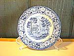 Liberty Blue Historic Colonial Scene Bread Plate