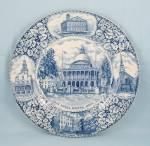 Adams, England, Collector Plate, Boston, Mass.