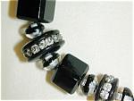 Sparkly Black & Rhinestone Czech Necklace