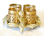 Vintage Gold Filigree Lipstick Holder