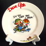 Royal Norfolk Dear God Plate