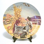 Vintage L.e. Knowles Thanksgiving Plate 1979
