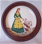 Helene Studios Framed Hand-painted Plate