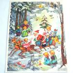 Santa With Children Western Germany Christmas Advent Calendar