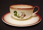Brock Chanticleer Rooster Cup And Saucer