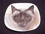 Crown Staffordshire Siamese Cat Plate