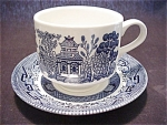 Churchill Blue Willow Cup And Saucer