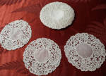 8 Handmade Needle Lace Goblet Rounds Provenance