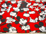 Red, White And Black Mickey Mouse Twin Flat Sheet