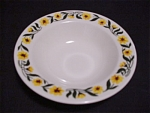 Homer Laughlin Yellow Daisy Dessert Bowl