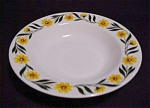 Homer Laughlin Yellow Daisy Soup Bowl