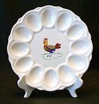 E. & R. Vintage American Art Ware Egg Plate