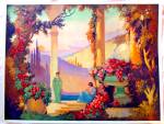 1920's Art Deco Enchanted Ladies Print Pavlosky Melody Of Love
