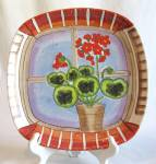 Dept. 56 Square Flower Pot In Window Platter
