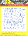 Aunt Martha's Hot Iron Transfers - X Stitch Alphabet