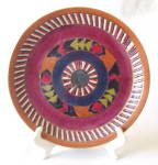 Aztec Band Embossed Hand-decorated Plate