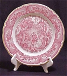 Shenango Civil War Red Transfer Ware Plate
