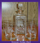 Whiskey Decanter With Four Tumblers