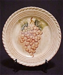 Tabletops Unlimited Vintage Grapes Plate
