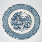 Currier And Ives Harvest Bread Plate