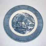 Currier And Ives Old Grist Mill Dinner Plate