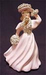 Vintage Spaghetti Art Pink Lady Figurine