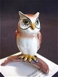 Hagen Renaker Horned Owl On Stump