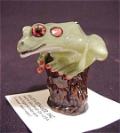 Hagen Renaker Tree Frog On Stump #3364