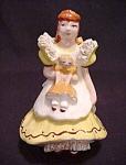 Vintage Ynez Girl Holding Doll Figurine