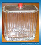 50s Glass Cigarette Box With Chrome Lid
